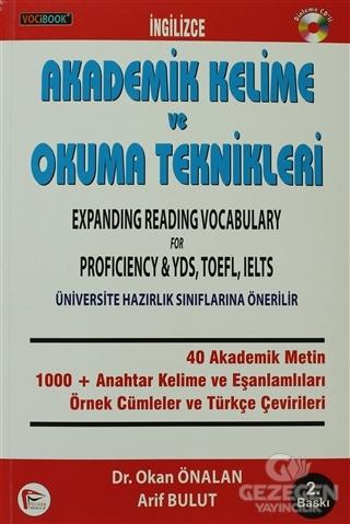 VOCİBOOK İngilizce Akademik Kelime ve Okuma Teknikleri