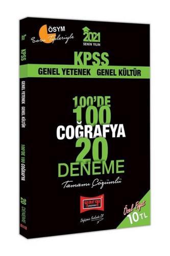 Yargı 2021 KPSS Coğrafya 100 de 100 20 Deneme Çözümlü Yargı Yayınları