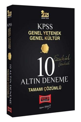 Yargı 2021 KPSS Genel Yetenek Genel Kültür 10 Altın Deneme Fasikül Çözümlü Yargı Yayınları