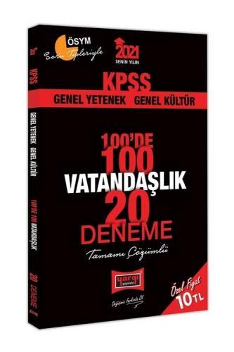 Yargı 2021 KPSS Vatandaşlık 100 de 100 20 Deneme Çözümlü Yargı Yayınları