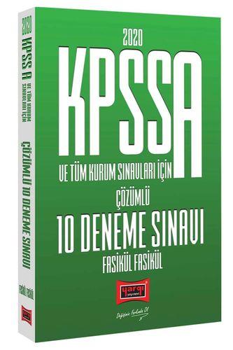 Yargı 2020 KPSS A Grubu 10 Deneme Fasikül Çözümlü Yargı Yayınları