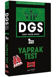 2021 DGS VIP Çek Kopart Yaprak Test