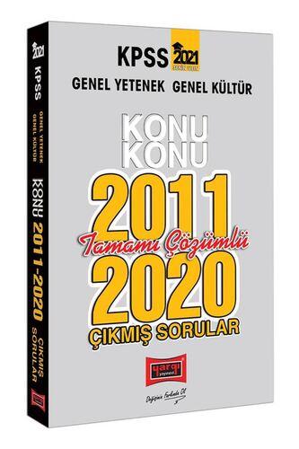 2021 KPSS Genel Yetenek Genel Kültür Konu Konu Tamamı Çözümlü Çıkmış Sorular(2011-2020)
