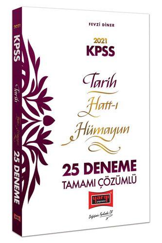 2021 KPSS Tarih Hatt-ı Hümayun Tamamı Çözümlü 25 Deneme
