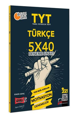 Yargı Yayınları 2021 TYT Türkçe 5×40 Motivasyon Deneme Sınavı