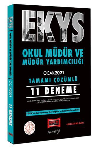 Yargı Yayınları EKYS Okul Müdür ve Müdür Yardımcılığı Tamamı Çözümlü 11 Deneme Ocak 2021