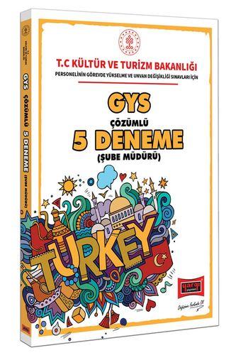 GYS Kültür ve Turizm Bakanlığı Şube Müdürü İçin Çözümlü 5 Deneme Yargı