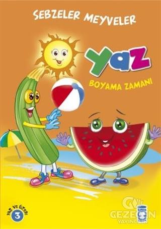 Yaz Boyama Zamanı - Sebzeler Meyveler
