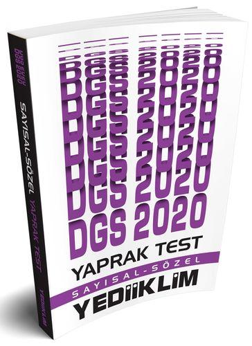 2020 DGS Yaprak Test   Yediiklim Yayınları