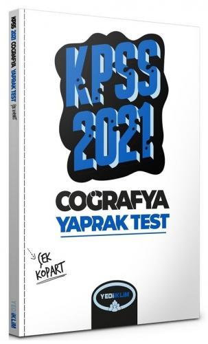 Yediiklim 2021 KPSS Coğrafya Yaprak Test Çek Kopart Yediiklim Yayınları