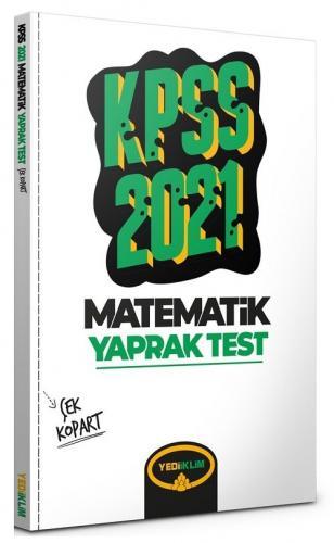 Yediiklim 2021 KPSS Matematik Yaprak Test Çek Kopart Yediiklim Yayınları