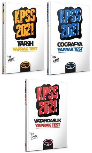 Yediiklim 2021 KPSS Tarih+Coğrafya+Vatandaşlık Yaprak Test 3 lü Set Yediiklim Yayınları