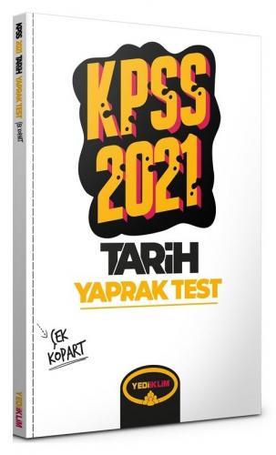 Yediiklim 2021 KPSS Tarih Yaprak Test Çek Kopart Yediiklim Yayınları