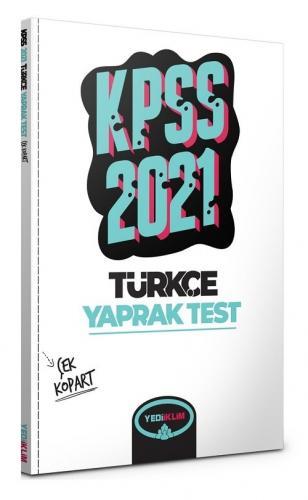 Yediiklim 2021 KPSS Türkçe Yaprak Test Çek Kopart Yediiklim Yayınları
