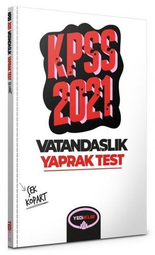 Yediiklim 2021 KPSS Vatandaşlık Yaprak Test Çek Kopart Yediiklim Yayınları