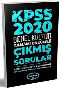 Yediiklim Yayınları 2020 KPSS Genel Kültür2013-2019Konularına Göre Tamamı Çözümlü Çıkmış Sorular