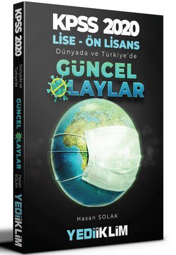 Yediiklim 2020 KPSS Lise Ön Lisans Dünya da ve Türkiye de Güncel Olaylar Yediiklim Yayınları
