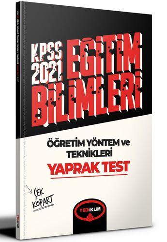 2021 Kpss Eğitim Bilimleri Öğretim Yöntem ve Teknikleri Çek Kopart Yaprak Test