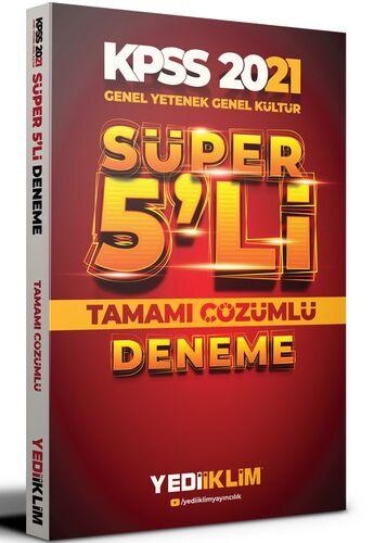 Yediiklim Yayınları 2021 Kpss Genel Yetenek Genel Kültür Tamamı Çözümlü Süper 5'li Deneme