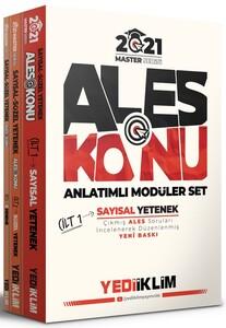 Yediiklim Yayınları 2021 Master Serisi Ales Konu Anlatımlı Modüler Set (Tamamı Renkli -3 Cilt)