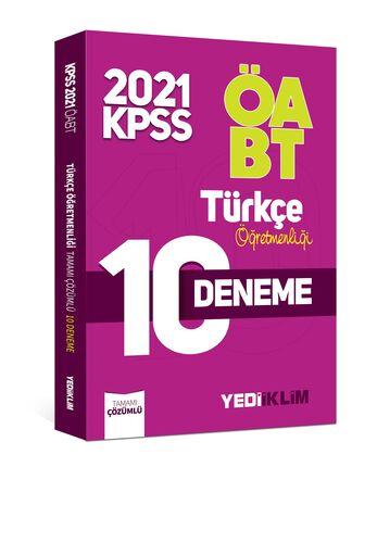Yediiklim Yayınları 2021 ÖABT Türkçe Öğretmenliği Tamamı Çözümlü 10 Deneme