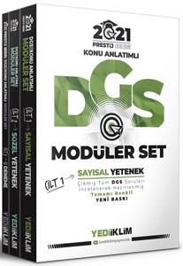Yediiklim Yayınları 2021 Prestij Serisi DGS Konu Anlatımlı Modüler Set(Tamamı Renkli-3 Cilt)