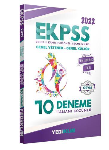 2022 EKPSS Tüm Adaylar Tamamı Çözümlü 10 Deneme