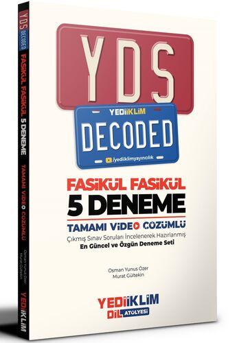 YDS Decoded Tamamı Video Çözümlü Fasikül 5 Deneme