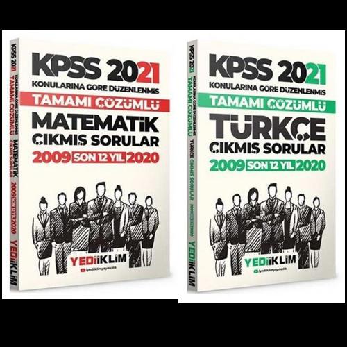 Yediiklim 2021 KPSS Matematik + Türkçe Çıkmış Sorular 2 li Set Yediiklim Yayınları