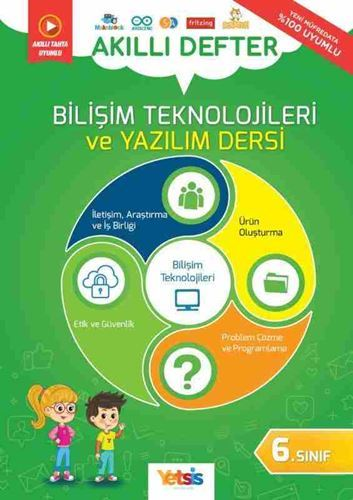 Yetsis 6. Sınıf Bilişim Teknolojileri ve Yazılım Dersi Akıllı Defter Yetsis Yayınları