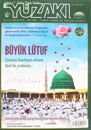 Yüzakı Aylık Edebiyat, Kültür - Sanat, Tarih ve Toplum Dergisi Sayı: 177 Kasım 2019
