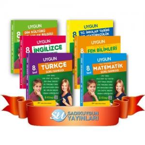 Sadık Uygun 8.Sınıf 6 Lı Tüm Dersler Soru Bankası Seti
