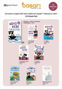 Kötü Kedi ve Diğer Eğlenceli Kitaplar Seti 19 Kitap