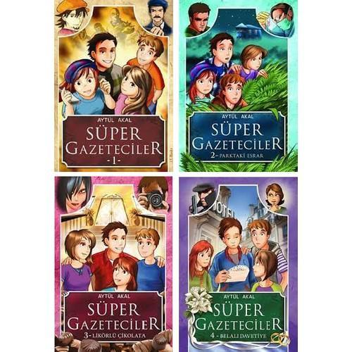 Süper Gazeteciler Serisi 4 Kitap Set - Aytül Akal Aytül Akal