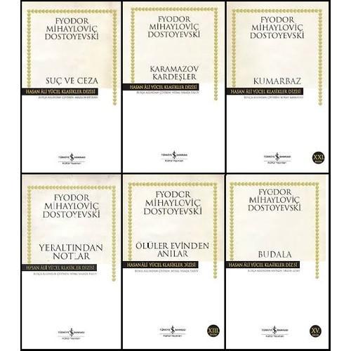 İş Bankası Dostoyevski 6 Kitap Set Hasan Ali Yücel Klasikleri (Suç ve