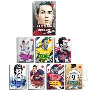 Dünya Futbol Yıldızları Set - 8 Kitap - Poster Hediyeli Sedat Kaplan