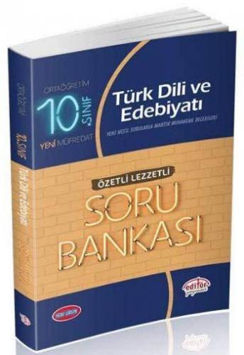 Editör 10. Sınıf Türk Dili ve Edebiyatı Özetli Lezzetli Soru Bankası YENİ