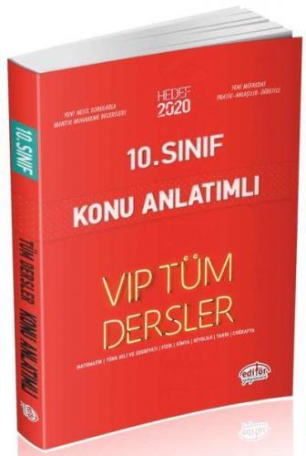 Editör 10. Sınıf VİP Tüm Dersler Konu Anlatımlı Kırmızı Kitap YENİ
