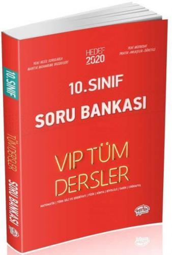 Editör 10. Sınıf VİP Tüm Dersler Soru Bankası Kırmızı Kitap YENİ