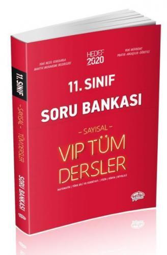 Editör 11. Sınıf VİP Tüm Dersler Sayısal Soru Bankası Kırmızı Kitap YENİ