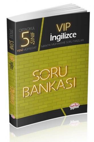 Editör 5. Sınıf VİP İngilizce Soru Bankası YENİ