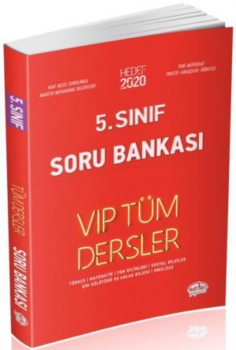 Editör 5. Sınıf VİP Tüm Dersler Soru Bankası Kırmızı Kitap YENİ