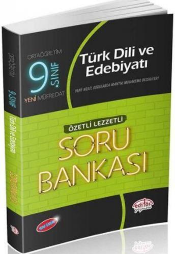 Editör 9. Sınıf Türk Dili ve Edebiyatı Özetli Lezzetli Soru Bankası YENİ