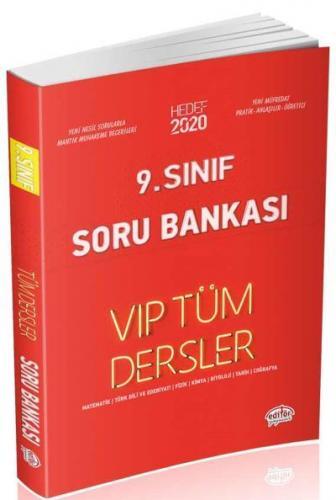 Editör 9. Sınıf VİP Tüm Dersler Soru Bankası Kırmızı Kitap YENİ