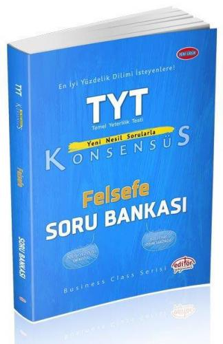 Editör TYT Konsensüs Felsefe Soru Bankası YENİ
