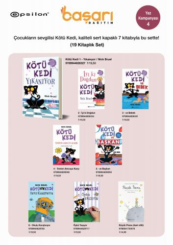 Kötü Kedi ve Diğer Eğlenceli Kitaplar Seti 19 Kitap Komisyon