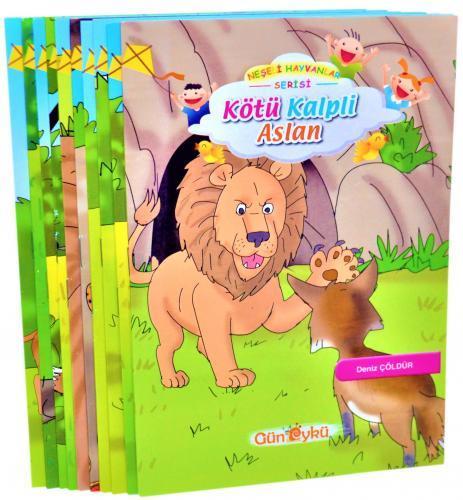 Gün Öykü Neşeli Hayvanlar Serisi Hikaye Seti 10 Kitap