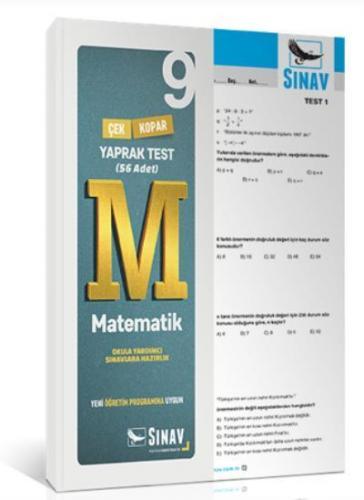Sınav 9. Sınıf Matematik Çek Kopar Yaprak Test 56 Adet YENİ Komisyon