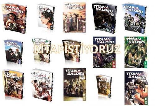 Titana Saldırı Seti 15 Kitap Kolektif