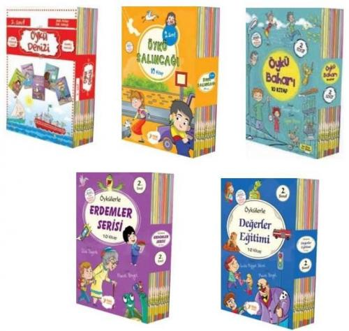 Yuva 2. Sınıf Hikaye Seti 5 Kutu 50 Kitap